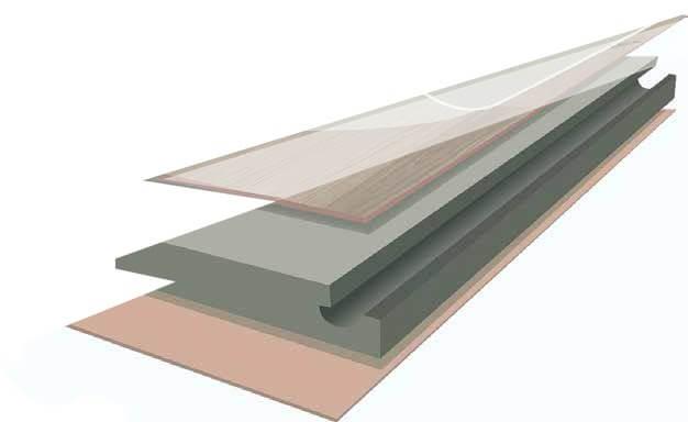Lớp cốt gỗ HDF của sàn gỗ Camsan