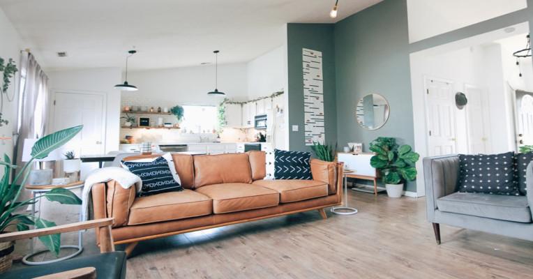 Kết hợp màu sàn và màu tường