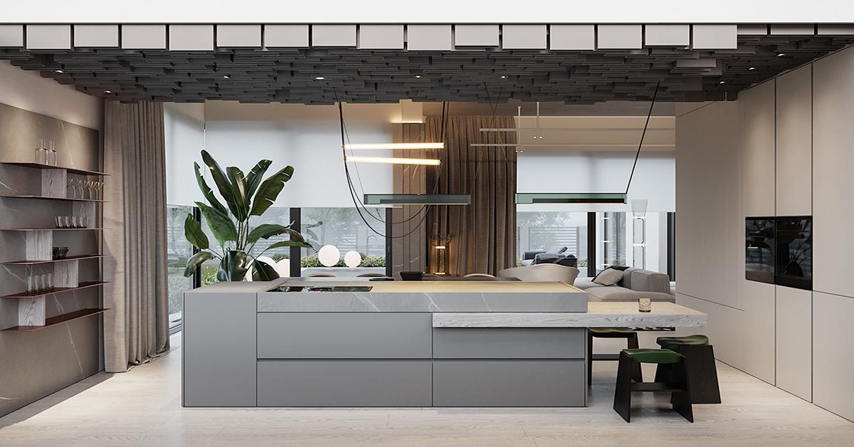 sàn gỗ công nghiệp cho phòng bếp